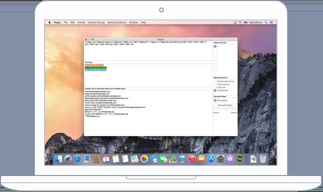 regex tool mac os x